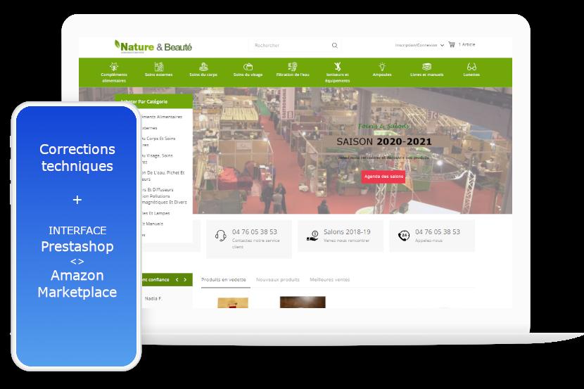 Interface Prestashop Amazon marketplace